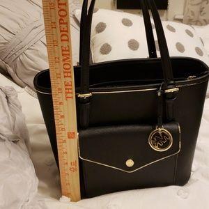 8e00973a2a6c62 Michael Kors Bags - NWT Michael Kors black purse with gold trim